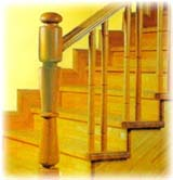 Staircase in Rubberwood